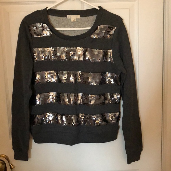 Stripped sequin sweater!